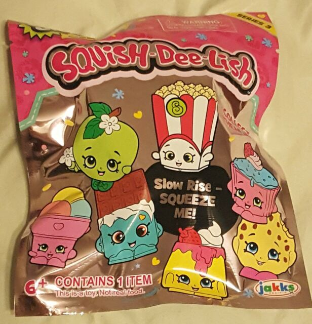 Squish-Dee-Lish Series 2 Slow Rise-Squeeze Me Toy Blind bags Lot of 3