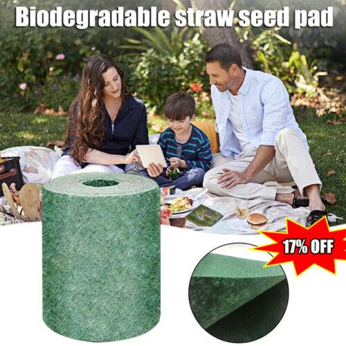 Biodegradable Grass Seed Mat Fertilizer Garden Picnic 20*300cm HOT