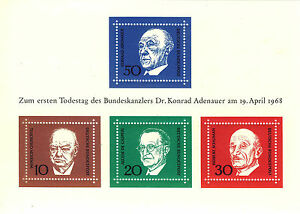 ALEMANIA-RFA-WEST-GERMANY-1968-MNH-SC-982-Politician