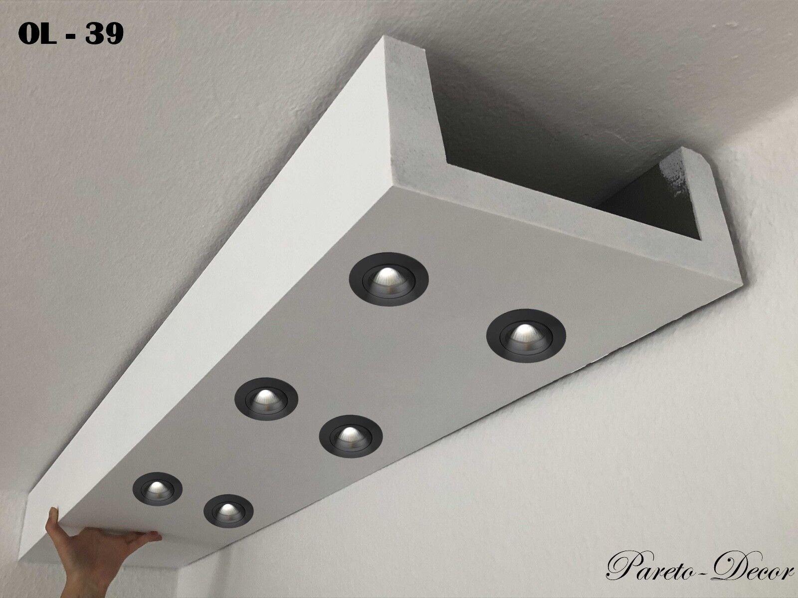50 Meter LED Licht Bebauung Profil Spot  indirekte Beleuchtung XPS OL-39 Weiß