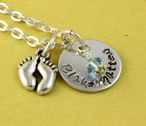 Mother's Day Gift for Mom New Baby Gift Personalized Custom Birthstone Necklace