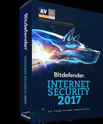 Bitdefender Internet Security 2017 | 2 Ans / 3 PC | ESD