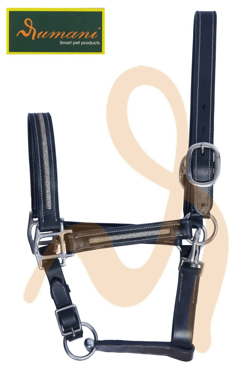 RUMANI Horse Leather HALTER For Events & Shows With Sparkle Decoration