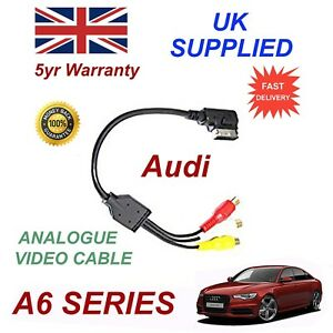For AUDI A6 4F0051510AA RCA PHONO Analogue Audio Video Cable AMI MMI