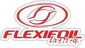 """Flexifoil Kiteboarding Kite Kiteboard Car Bumper Window Sticker Decal 6/""""X3.5/"""""""