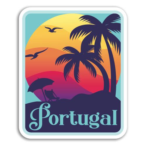 2 x 10 cm PORTUGAL Vinyle Autocollants-Cool Fun Voyage Autocollant Ordinateur Portable bagages #18478
