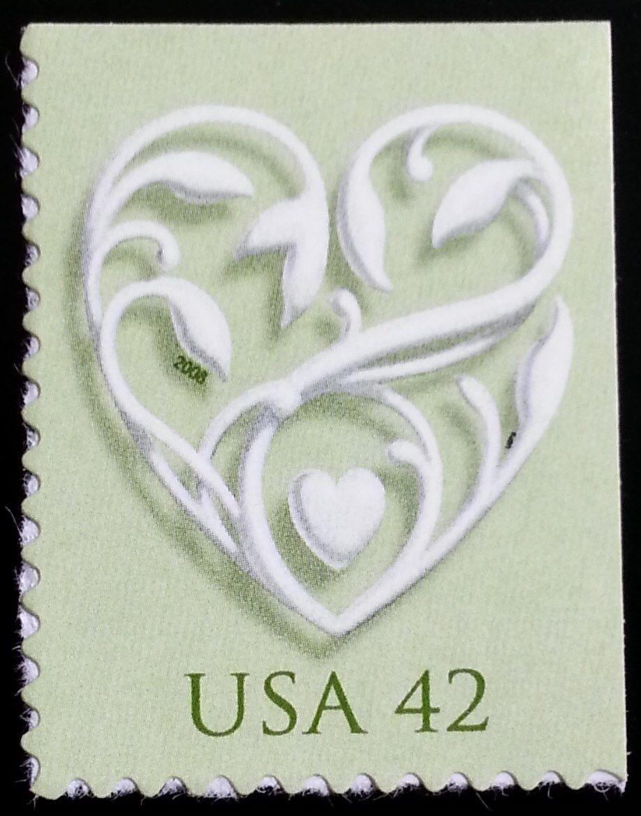2008 42c Wedding Hearts, Special Issue Scott 4271 Mint