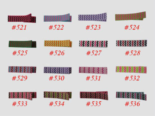 1000 BLESSING Good Girl Boutique 1.78 inch Lined Alligator Clip 598 Color