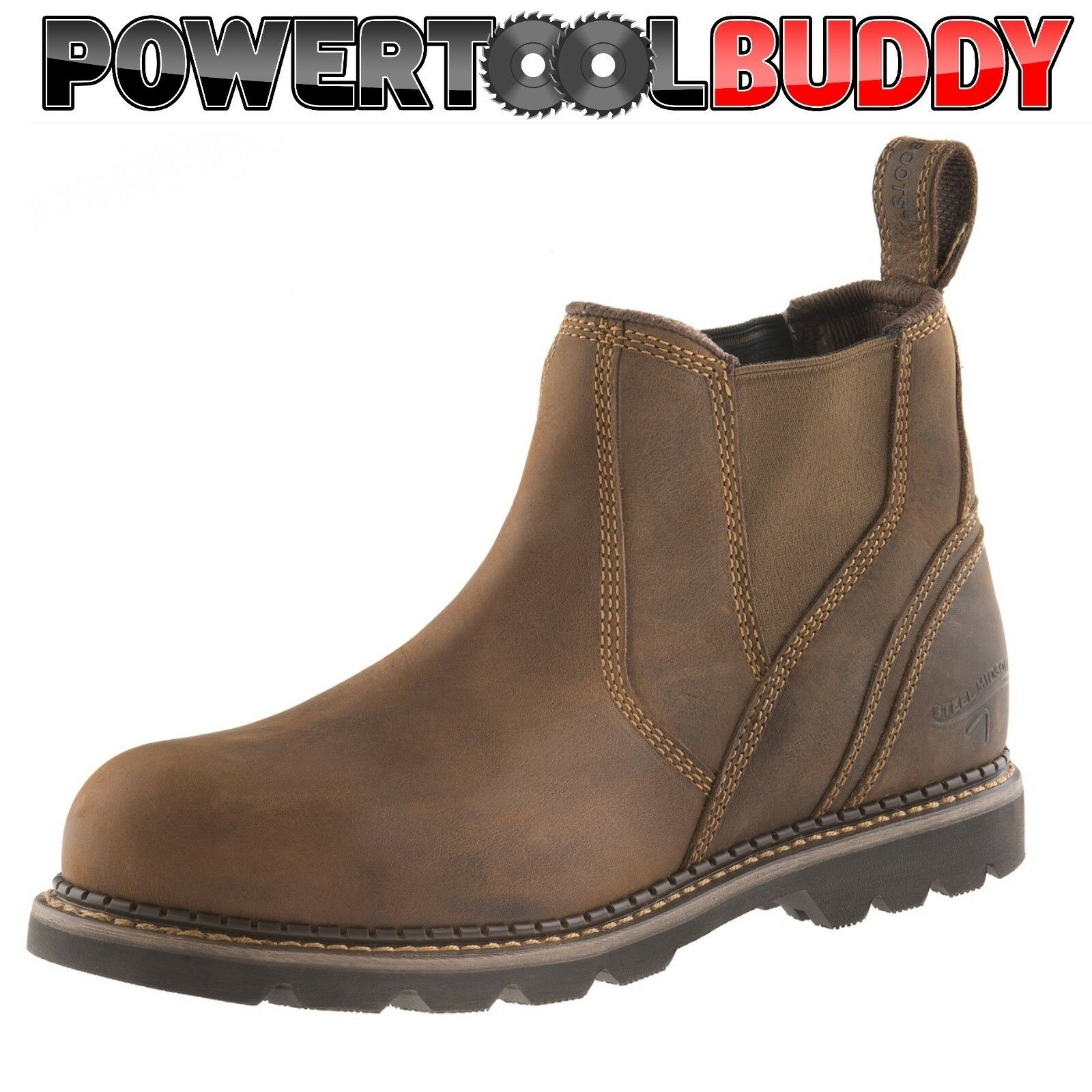 Buckler B1555SM Waxed safety Brown Crazy Horse leather safety Waxed dealer boot  Size 6 - 13 884de9