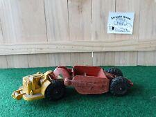 Vintage Auburn Rubber Pan Scraper Earth Mover Construction Heavy Equipment Toy