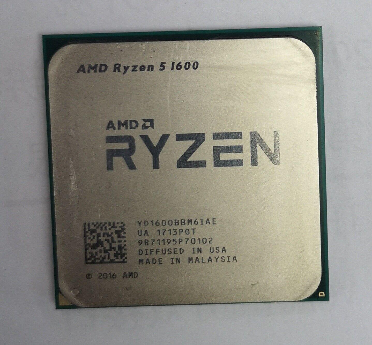 Amd Yd1600bbm6iae Ryzen 5 1600 Am4 Hexa Core 3 2 Ghz Gaming Processor For Sale Online Ebay