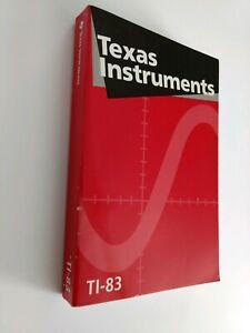 TI-83-Graphing-Calculator-Guidebook-Texas-Instruments-Manual-Mathematics