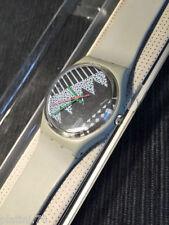 Swatch - Grey Memphis - GM100 - 1984 - Original Gent Standard NEW IN BOX