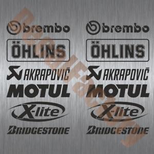 Details Zu Aufkleber Sponsoren Set Motorrad Racing Decal 12 Teilig Rennsport Motogp Msp001