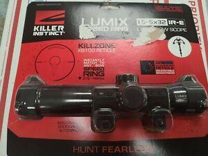 Killer Instinct Lumix Speedring 1.5-5x32 IR-E Crossbow Scope FREE SHIPPING