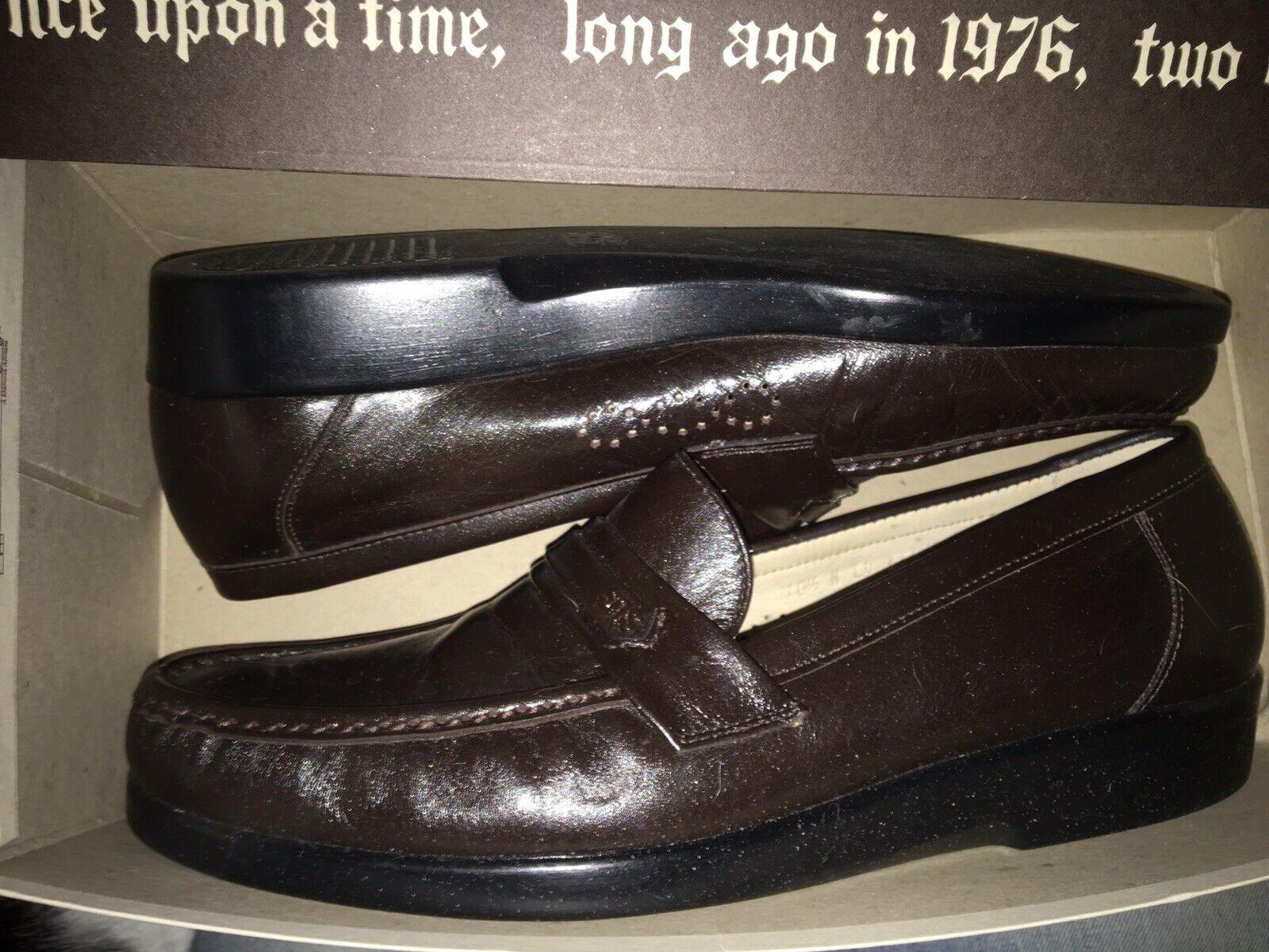 New SAS Mens ACE Comfort Shoe- Loafers Dark Brown- Sz. 10 1/2 N- 10.5