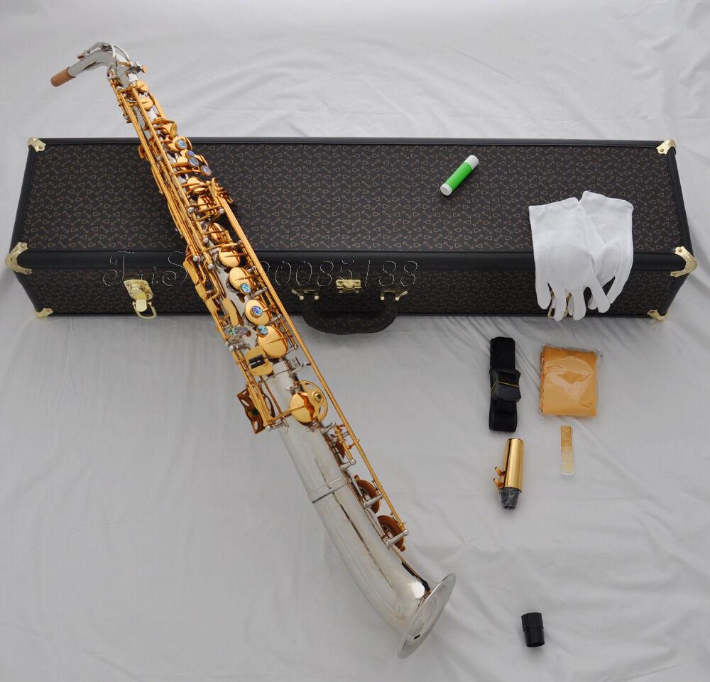Professioneller Eb Straight Alto Saxophon Low B bis hoch Fcurved Glocke