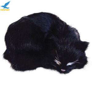Lifelike-Black-Cat-Plush-Soft-Animal-Doll-Simulation-Decoration-Kids-Toys-Gift
