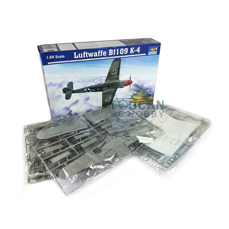 1 24 Luftwaffe BF109 K-4 Airplane Plastic Kit Static Model Trumpeter 02418 Toy