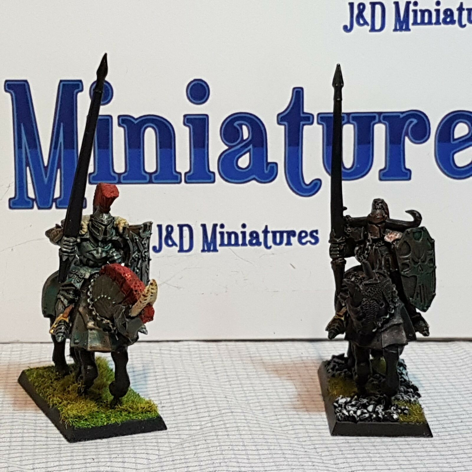 Games Workshop Warhammer Fantasy Battle Warriors of Chaos Knights Painted  x2