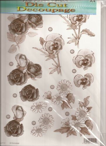 A4 Die Cut 3D Decoupage Sheets 051-113S