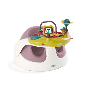BNIP Mamas and Papas  Baby Snug Floor Seat  Dusky Rose Pink and Play Tray