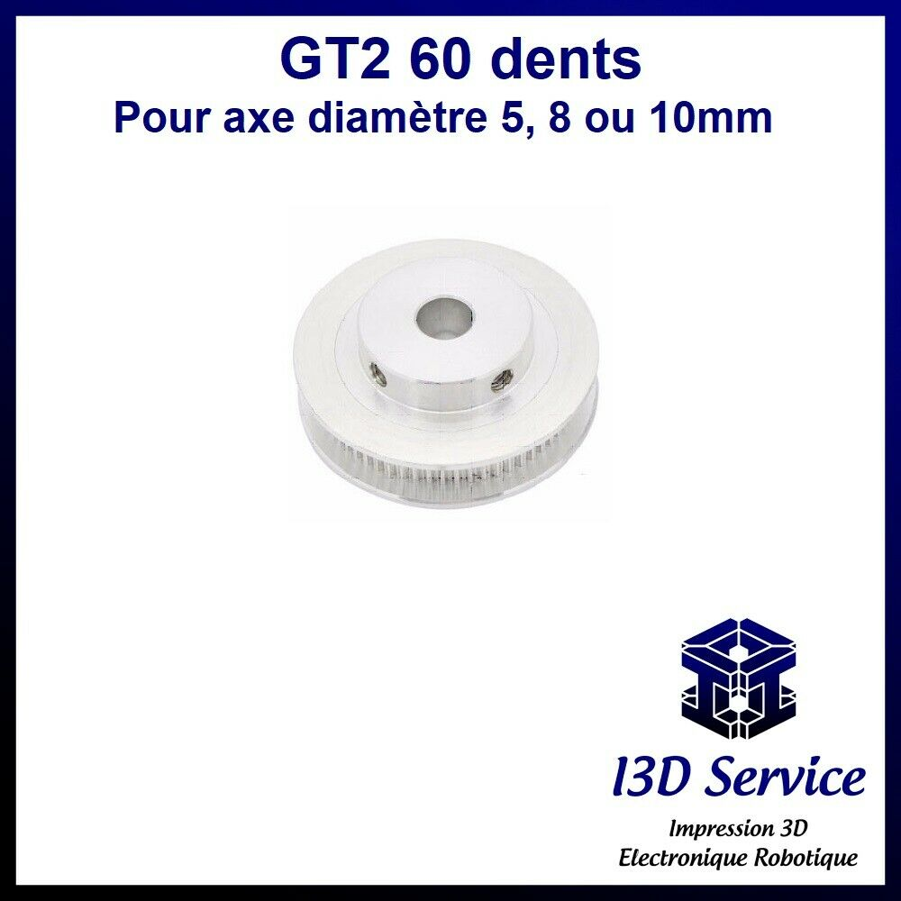 Pulley gt2 60 teeth for gt2 6mm