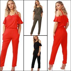 f0dd289b17e New Women URBAN MIST Lace Applique Cold Shoulder Ruffle Sleeve ...