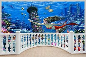 Huge-3D-Balcony-Fantasy-Mermaids-Under-Sea-Wall-Stickers-Mural-Decal-447
