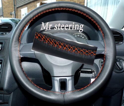 Pour VW Caddy Facelift 2010 Cuir Italien Volant couverture orange Stitch