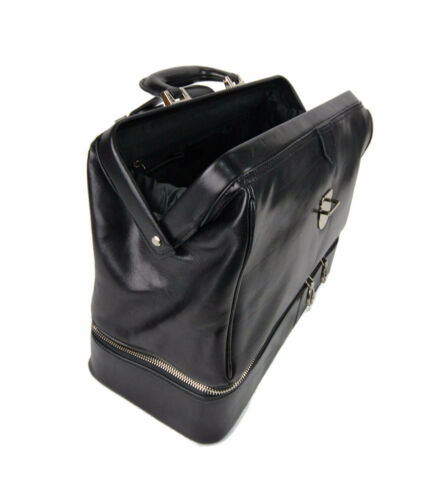 Bag Cartella Medico Doctor Nero Borsa Donna Retro Pelle vdqSdwnp