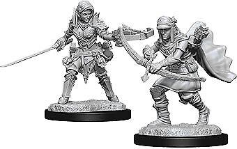 WZK73545 Pathfinder Deep Cuts Unpainted Miniatures W7 Female Half-Elf Ranger