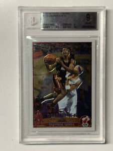 Dwayne-Wade-Topps-Chrome-Rookie-Basketball-Card-115-Future-HOF-BGS-9