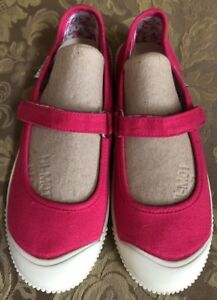 Keen-Vulcanized-Washable-Canvas-Pink-Mary-Jane-Flats-Sz-6M-22-5cm