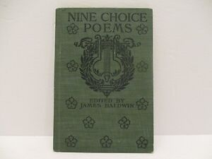 Details About Nine Choice Poems Edited By James Baldwin 1906