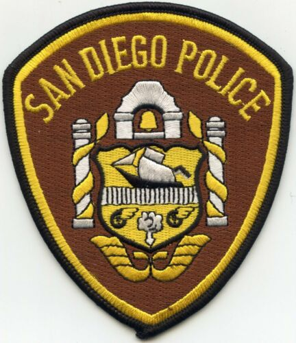 SAN DIEGO CALIFORNIA CA Brown Background POLICE PATCH