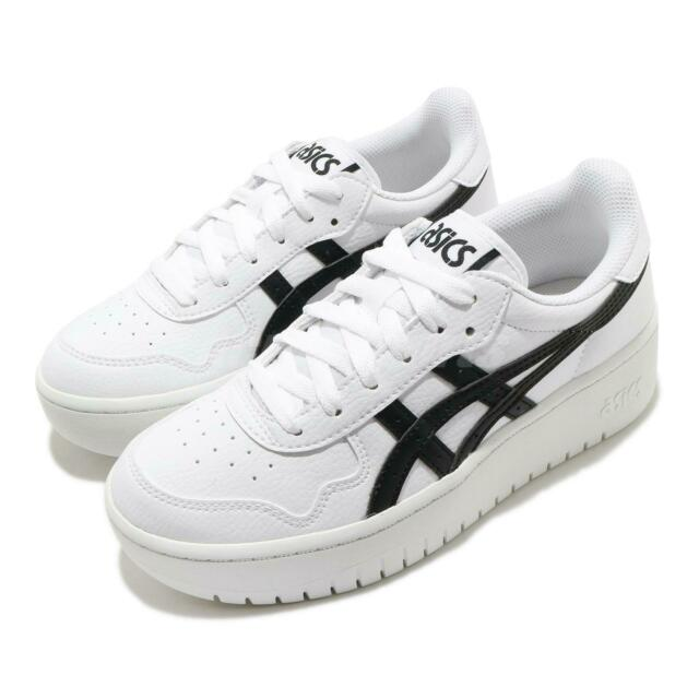 Asics Japan S PF White Black Women Casual Platform Sportstyle Shoes 1202A024-100