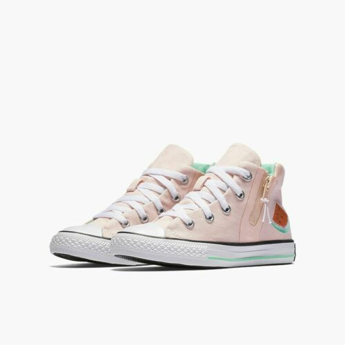 Converse Chuck Taylor All-Star Sports Zip Hi-Top Vapor Pink//White//Green Glow PS