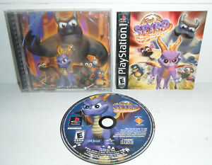 VG-BLACK-LABEL-Sony-PlayStation-1-Game-SPYRO-YEAR-OF-THE-DRAGON-PS1-Complete-CIB