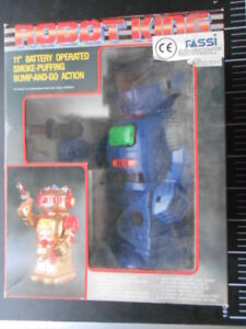 Vintage-Toy-Space-Robot-Battery-Operated-TV-King-Fassi-Blue-Video-Super-Machine