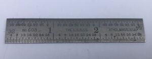 THE L. S. STARRETT Co. No. 603 TEMPERED 3 INCH RULE ATHOL, MASS.USA