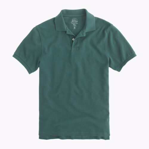 New J.Crew Mens Classic Pique Knit 2-Button Polo Shirt All Colors /& Sizes XS-XXL