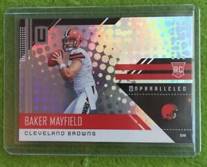 BAKER-MAYFIELD-ROOKIE-CARD-UNPARALLELED-PRIZM-REFRACTOR-RC-Holo-2018-Panini-208