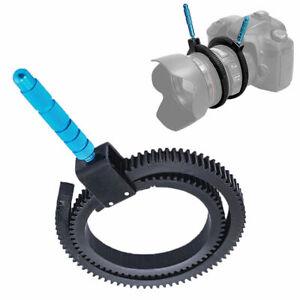 BIN-Flexible-Adjustable-Gear-Ring-Belt-w-Hand-For-Camera-Focus-Follow-DSLR-Z0Y5