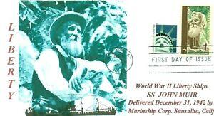 John-Muir-Libertad-Barco-Nombre-American-Naturalista-Retrato-Primer-Dia-Pm