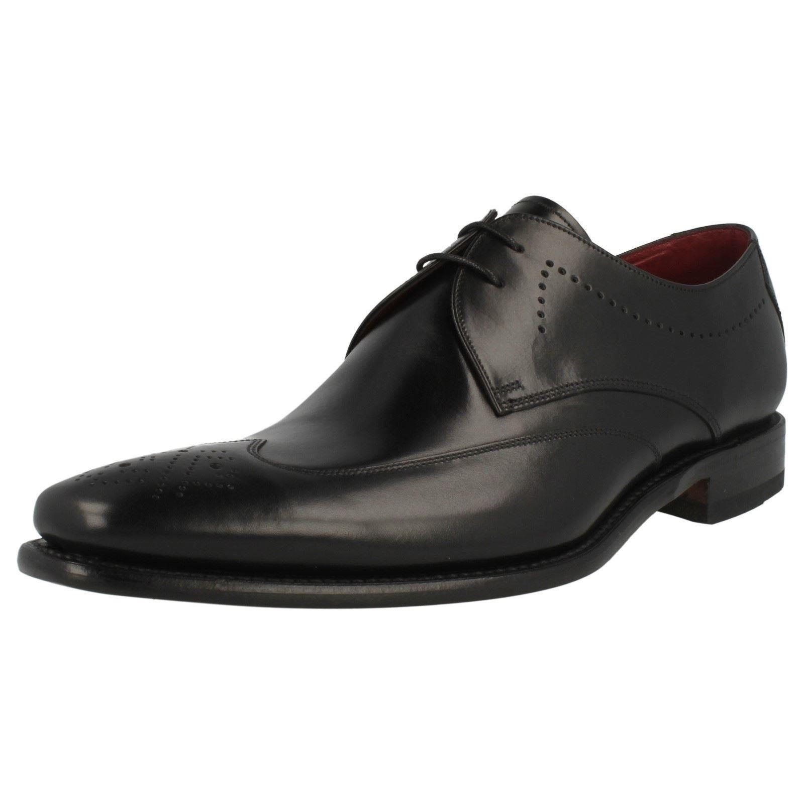 Loake  Stitch  para hombre Zapatos De Cuero Negro