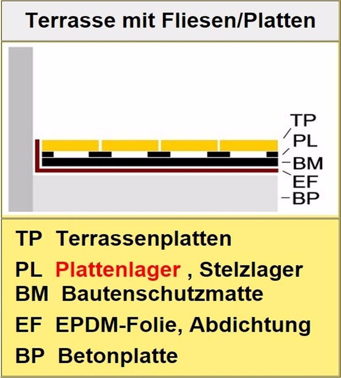 49 Plattenlager Stelzlager Stelzlager Stelzlager 5mm hoch Terrassenlager verstellbar kaufen ddde :n 70f56b
