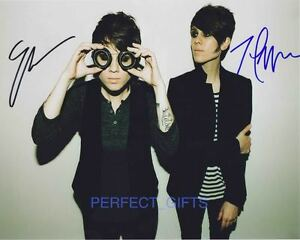 TEGAN AND SARA QUIN BAND SIGNED 10X8 PP REPRO PHOTO