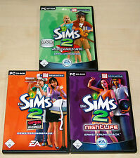 3 PC SPIELE SAMMLUNG DIE SIMS 2 WILDE CAMPUSJAHRE OPEN FOR BUSINESS NIGHTLIFE