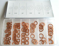110pc Copper Washer Assortment For Nuts And Bolts